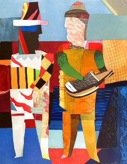 Deux Musicians 1980 Super Huge Limited Edition Print - Max Papart