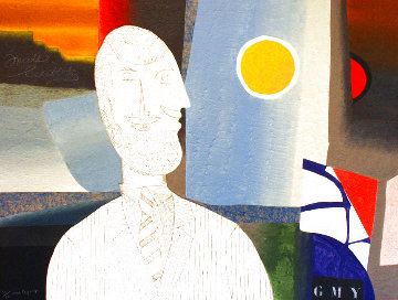 Man With a Mustache 1980 Limited Edition Print - Max Papart