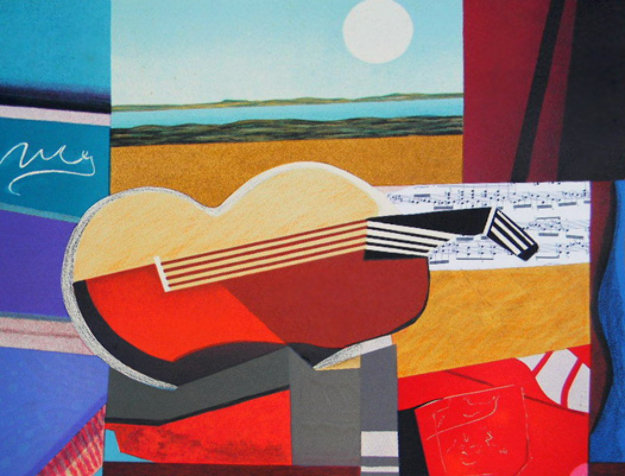 Guitare II  Limited Edition Print by Max Papart