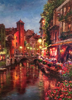 Annecy Night 2015 Embellished Limited Edition Print - Sam Park