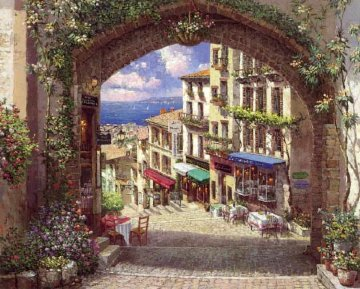 Archway to Cagnes 2001 55x45 Original Painting - Sam Park
