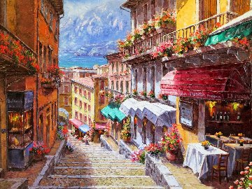 View of Giacomo 2013 30x40 Original Painting - Sam Park