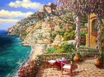 Positano Patio 2010 Embellished Limited Edition Print by Sam Park