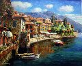 Harbor At Varenna 2010 Embellished Limited Edition Print - Sam Park