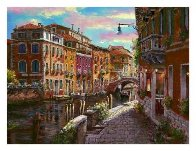 Shimmering Canal 2010 Embellished  Limited Edition Print by Sam Park - 1