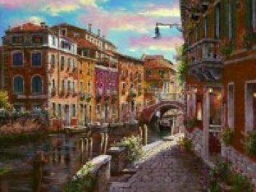 Shimmering Canal 2010 Embellished  Limited Edition Print by Sam Park