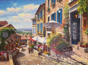 Streets of St. Emilion 2010 Embellished   Limited Edition Print - Sam Park