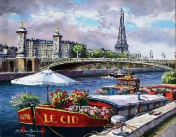 Along the Seine 2010 Limited Edition Print by Sam Park