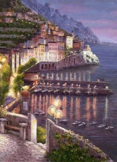 Night View of Amalfi 2010 Limited Edition Print by Sam Park