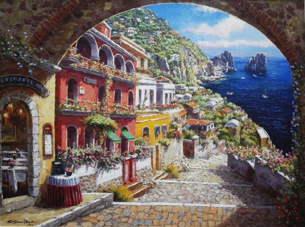 Archway Capri 2010  Embellished  Limited Edition Print by Sam Park