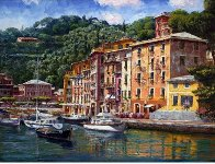 Dockside At Portofino 2010 Embellished  Limited Edition Print by Sam Park - 1