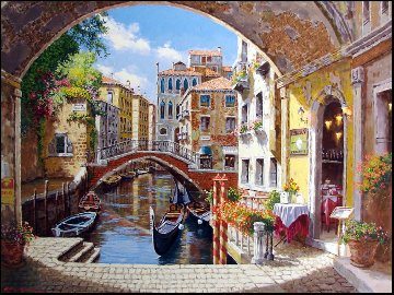 Archway to Venice 2003 Embellished Limited Edition Print by Sam Park