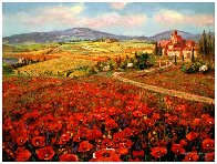 Tuscany Summer 2007 Embellished Limited Edition Print by Sam Park - 1
