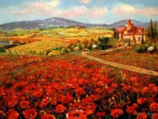 Tuscany Summer 2007 Embellished Limited Edition Print by Sam Park