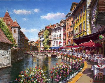 Springtime Annecy Embellished 2007 Limited Edition Print by Sam Park