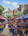 Nice Flower Market 2010 Limited Edition Print - Sam Park