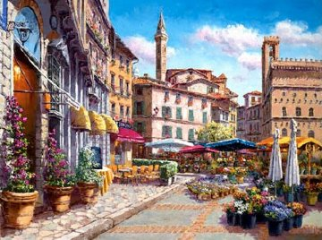Florence Flower Market 2010 Limited Edition Print by Sam Park