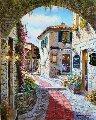 Eze Villa  30x24 Original Painting - Sam Park