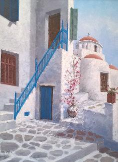 Greece Photos 1986 32x24 Original Painting by Sam Park