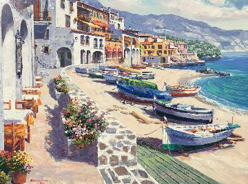 Boats of Calella AP 1998 Limited Edition Print - Sam Park