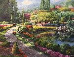 Butchart Garden 2006 31x37 Canada Original Painting - Sam Park