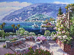 Bellagio, Italy 2002 18x24 Original Painting - Sam Park