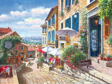 Streets of St Emilion 2000 Limited Edition Print - Sam Park