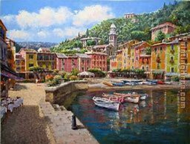 Harbor At Portofino 2003 Limited Edition Print by Sam Park