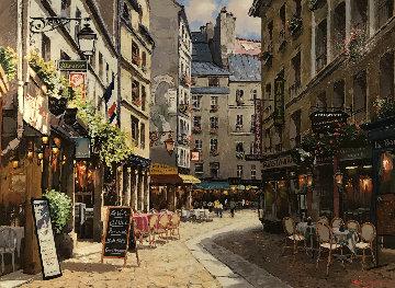 Parisian Cafe 2001 Embellished Limited Edition Print by Sam Park