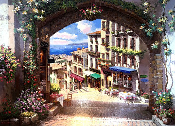 Arch De Cagnes AP 2001 Embellished Limited Edition Print by Sam Park