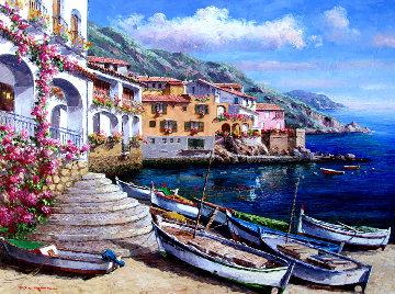 Calella De Palafrugell 30x40 Original Painting - Sam Park