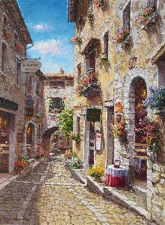 St. Paul Des Vence 40x30 Original Painting - Sam Park