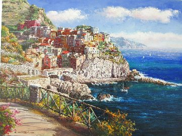 Manarola 30x40 Original Painting by Sam Park