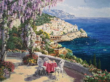 Amalfi Patio 2000  Embellished   Limited Edition Print - Sam Park