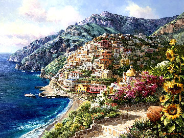 Positano 46x58 Original Painting by Sam Park