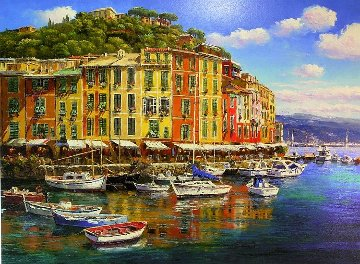 Portifino Reflections, And Spring Time in Venice, Set of 2 Prints  Limited Edition Print by Sam Park