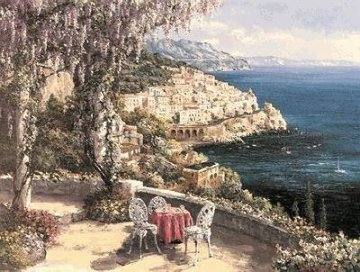 Amalfi Patio Super Huge Limited Edition Print - Sam Park