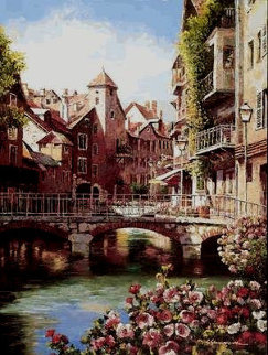 Annecy Nights PP Super Huge Limited Edition Print - Sam Park