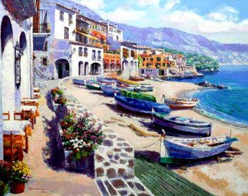Boats of Callela PP Super Huge Limited Edition Print - Sam Park