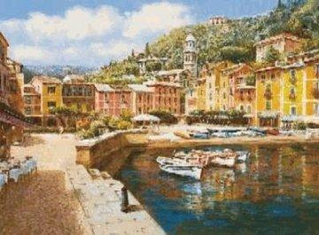 Harbor At Portofino PP Huge Limited Edition Print - Sam Park