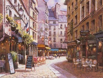 Parisian Cafe PP Huge Limited Edition Print - Sam Park