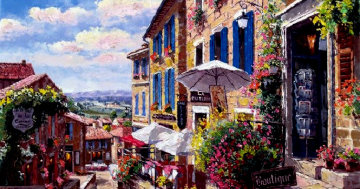 Streets of St. Emilion PP Super Huge Limited Edition Print - Sam Park
