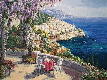 Amalfi Patio PP Limited Edition Print by Sam Park