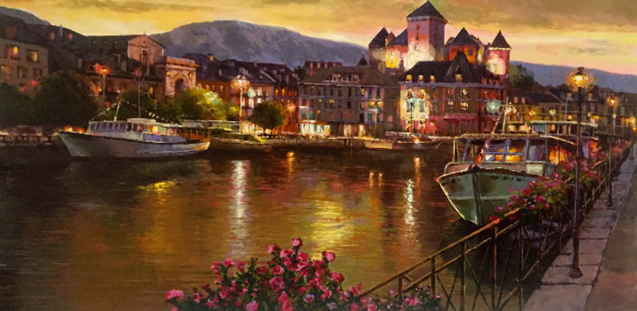 Annecy Nights PP Super Huge Limited Edition Print by Sam Park