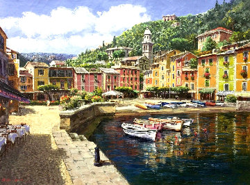Harbor At Portofino PP Limited Edition Print by Sam Park