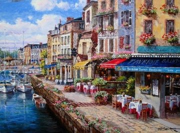 Harbor At Honfleur PP Limited Edition Print - Sam Park
