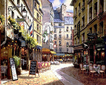 Parisian Cafe PP Limited Edition Print by Sam Park