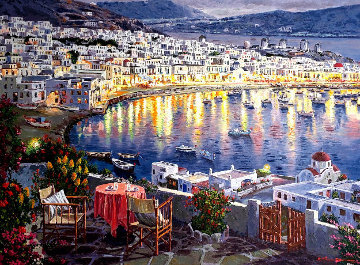 Mykonos Sunset PP Limited Edition Print - Sam Park