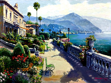 Lake Como Promenade Embellished AP 2000 Limited Edition Print - Sam Park