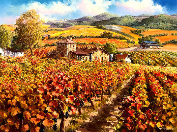 Napa Valley 38x48 Original Painting - Sam Park